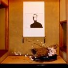 秋月の廣久葛本舗さんの店内装花