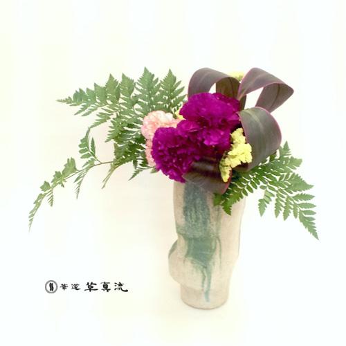 カーネーション・スターチス・赤ドラセナ・レザーファン
